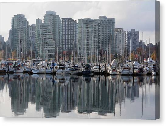 Vancouver Bc - Boats And Condos Canvas Print