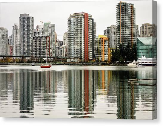 Vancouver Bc Sky Line Canvas Print