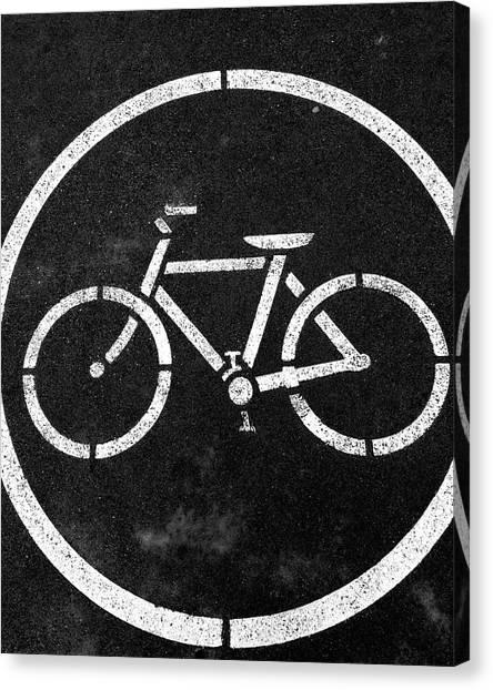 Vancouver Canvas Print - Vancouver Bike Lane- Art By Linda Woods by Linda Woods