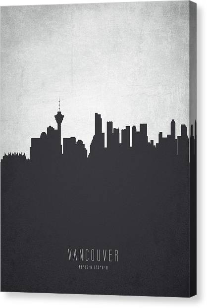 Vancouver Skyline Canvas Print - Vancouver British Columbia Cityscape 19 by Aged Pixel