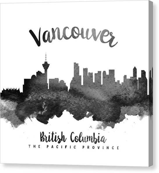 Vancouver Skyline Canvas Print - Vancouver British Columbia Skyline 18 by Aged Pixel