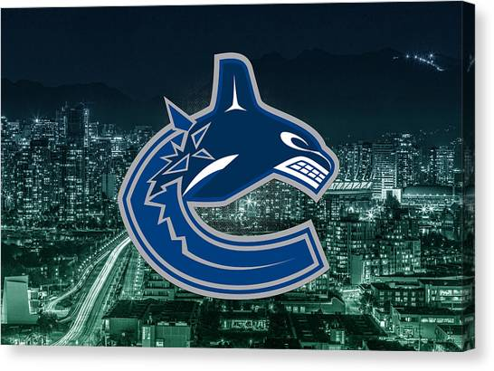 Vancouver Canucks Canvas Print - Vancouver Canucks  by Nicholas Legault