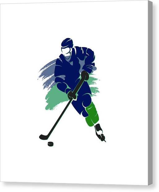 Vancouver Canucks Canvas Print - Vancouver Canucks Player Shirt by Joe Hamilton