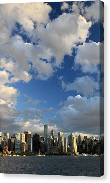 Vancouver City At Sunset Canvas Print by Pierre Leclerc Photography