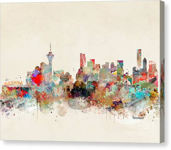 Vancouver Canvas Print - Vancouver City Skyline by Bri Buckley