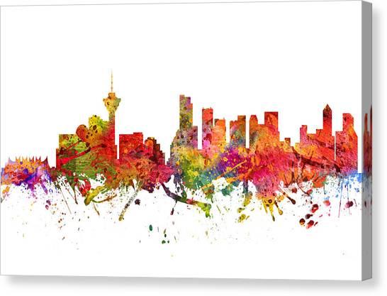 Vancouver Skyline Canvas Print - Vancouver Cityscape 08 by Aged Pixel