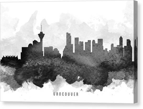 Vancouver Skyline Canvas Print - Vancouver Cityscape 11 by Aged Pixel