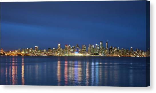 Vancouver Cityscape Canvas Print by Mauricio Ricaldi