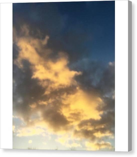 Vancouver Skyline Canvas Print - #vancouver #cloud #yellow #cloudporn by Amirreza Ahmadivafa