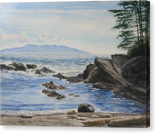 Vancouver Island Canvas Print by Monika Degan
