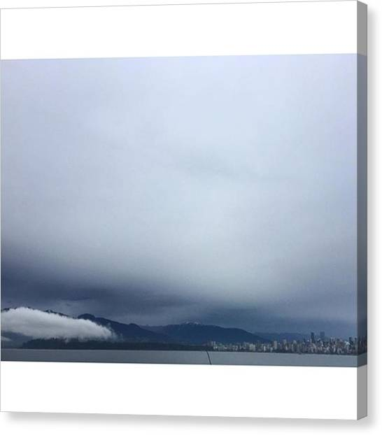 Vancouver Skyline Canvas Print - #vancouver #jerichobeach #clouds #cloud by Amirreza Ahmadivafa