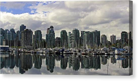 Vancouver Marina Canvas Print by Walter Fahmy