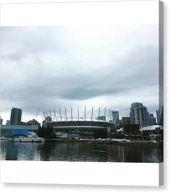 Vancouver Skyline Canvas Print - #vancouver #rogersarena  #scienceworld by Amirreza Ahmadivafa