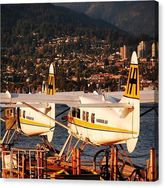 Seaplanes Canvas Print - #vancouver #seaplane Port #north by Sven Hebel