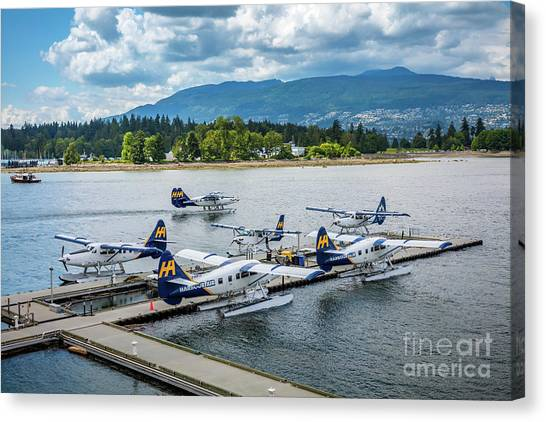 Seaplanes Canvas Print - Vancouver Seaplanes by Inge Johnsson
