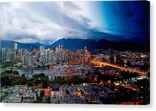 Vancouver Skyline Canvas Print - Vancouver Skyline - 4 Hours by Martin Krzywinski