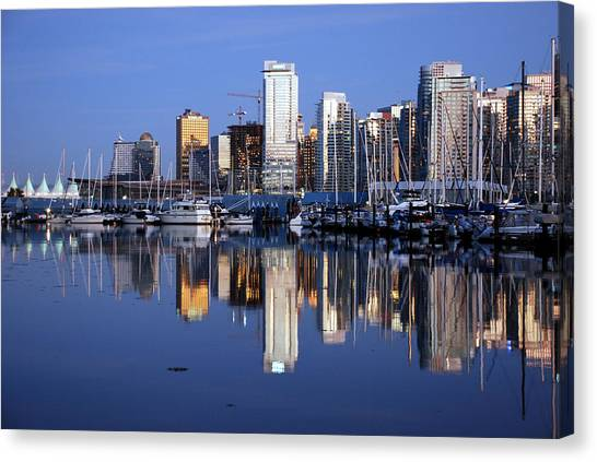 City Landscape Canvas Print - Vancouver Skyline by Alasdair Turner