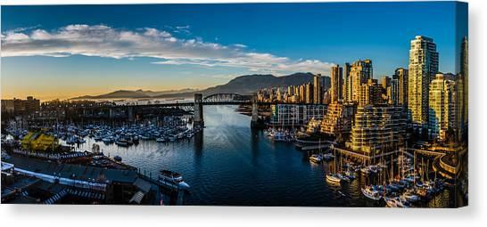 British Columbia Canvas Print - Vancouver Sunset by Ian Stotesbury