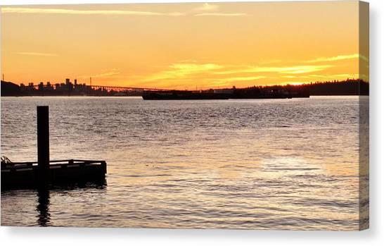 Vancouver Skyline Canvas Print - Vancouver Sunset by Luzia Light