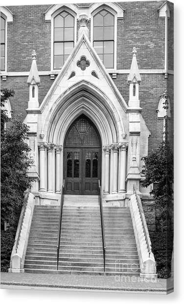 Al Gore Canvas Print - Vanderbilt University Kirkland Hall Entrance by University Icons