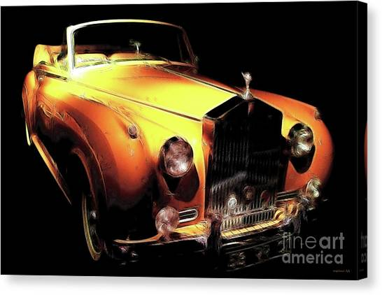 Automotive Art Series Canvas Print - Vanilla Opulence by Wingsdomain Art and Photography