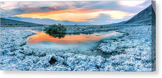 Sundown Canvas Print - Vanilla Sunset by Az Jackson