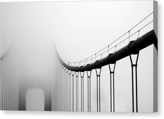 Vanishing Bridge Canvas Print