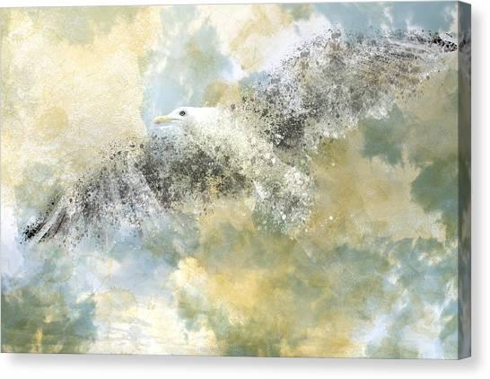 Art Movements Canvas Print - Vanishing Seagull by Melanie Viola
