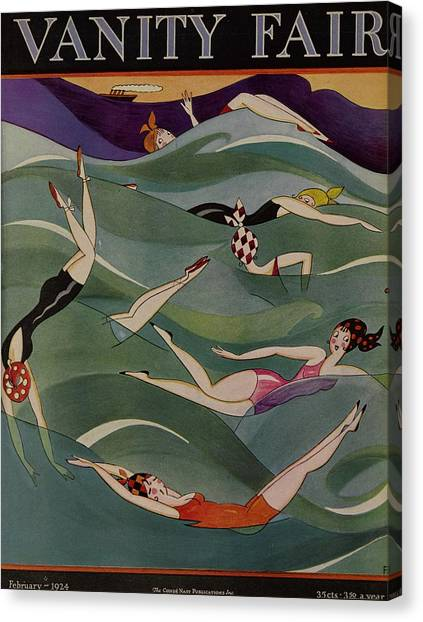 Vanity Fair February 1924 Cover  Canvas Print by A H Fish