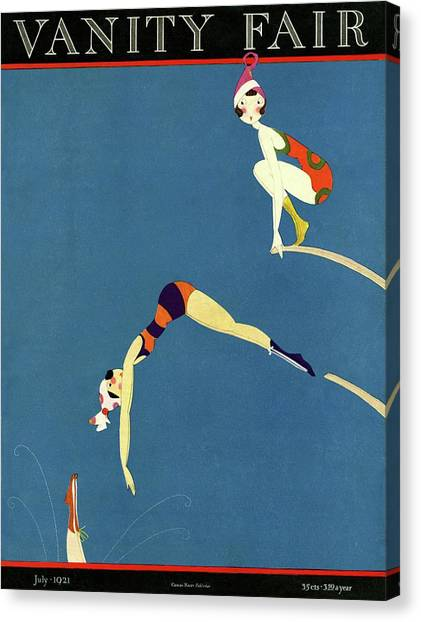 Vanity Fair July 1921 Cover Canvas Print by A H Fish