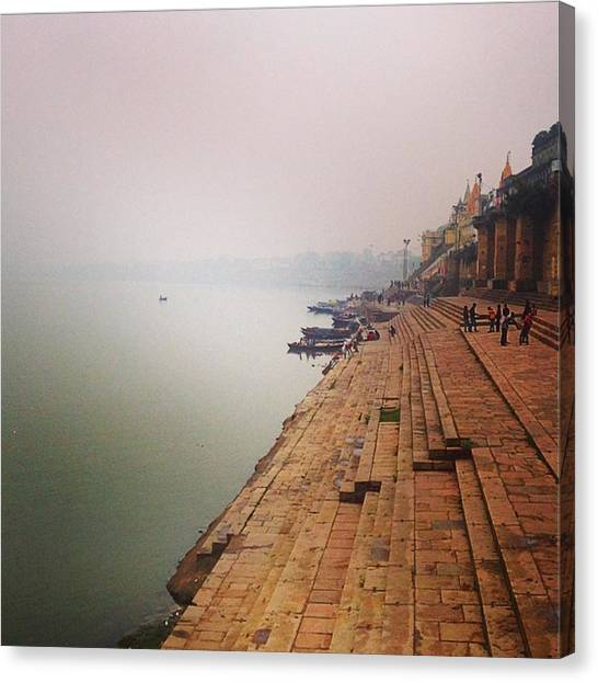 Ganges Canvas Print - #varanasi #india #ganges by Chikkas By Fran Galea