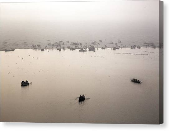 Ganges Canvas Print - Varanasi - India by Joana Kruse