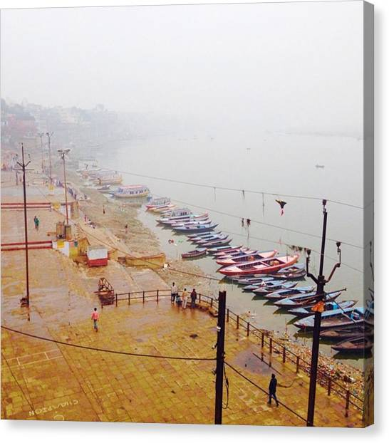 Ganges Canvas Print - #varanasi #india #river #ganges by Chikkas By Fran Galea