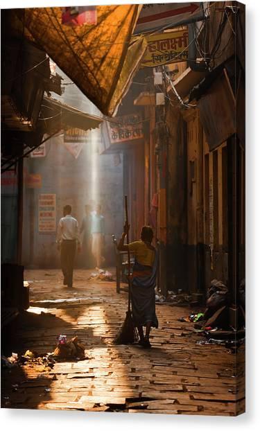 Varanasi Morning Canvas Print