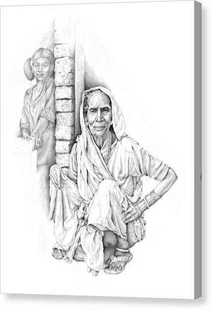 Varanasi Woman Canvas Print
