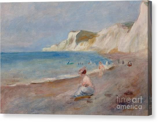 Pierre-auguste Renoir Canvas Print - Varengeville Beach by Pierre Auguste Renoir