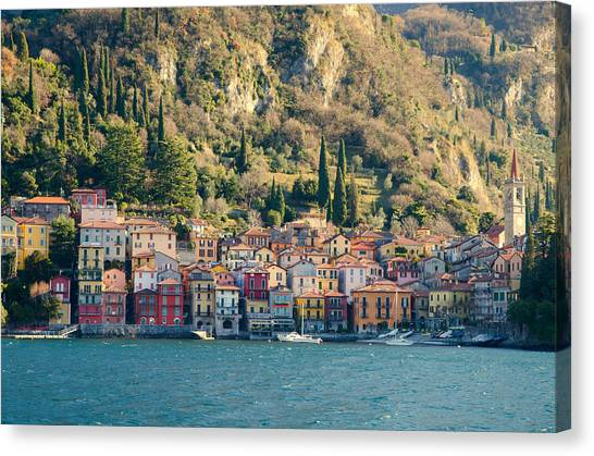 Varenna Village Canvas Print
