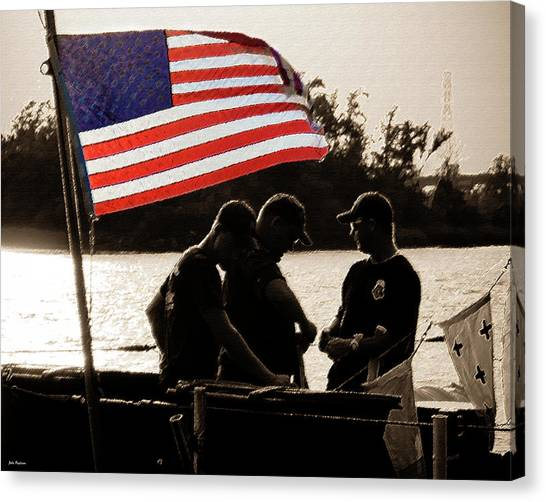 Variations On Old Glory No.3 Canvas Print