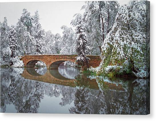 University Of Colorado Canvas Print - Varsity Pond Bridge by Lee Craker