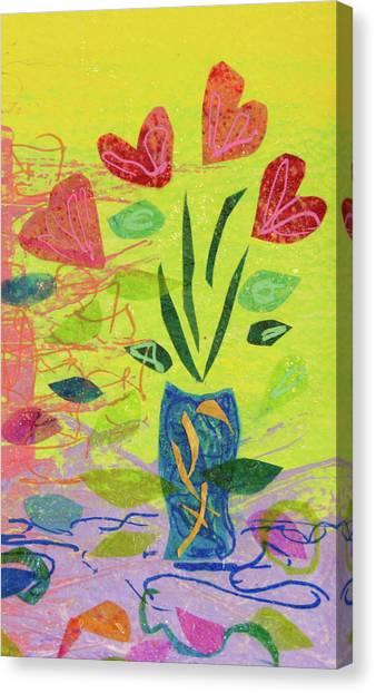 Vase Full Of Love Canvas Print