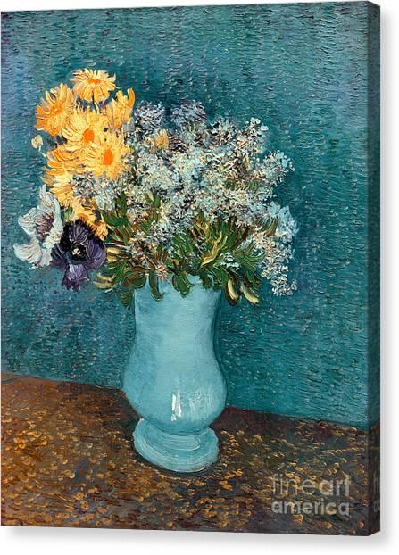 Vincent Van Gogh Canvas Print - Vase Of Flowers by Vincent Van Gogh