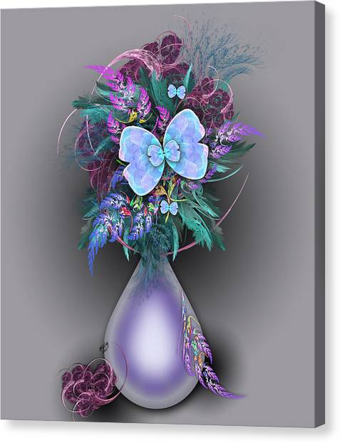 Vase Of Fractals Canvas Print