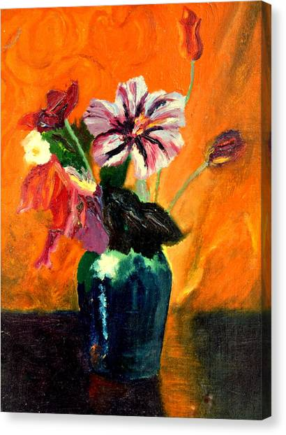 Vase With Flowers Canvas Print