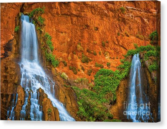 Splashy Canvas Print - Vaseys Paradise Twin Falls by Inge Johnsson