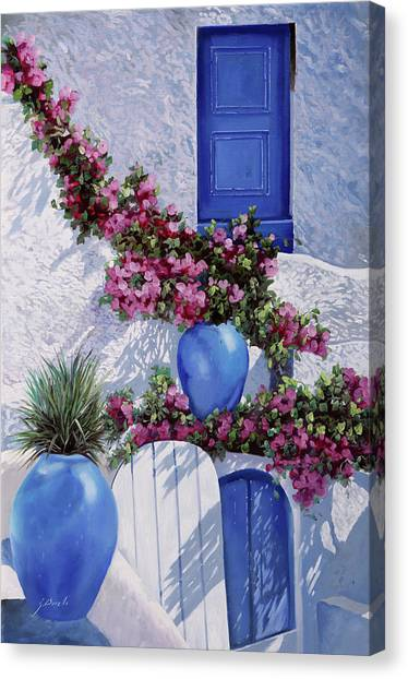 Greece Canvas Print - Vasi Blu by Guido Borelli