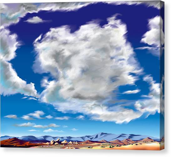 Vasquez Cloud Canvas Print by Steve Beaumont