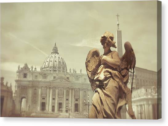 Vatican Angel Canvas Print by JAMART Photography