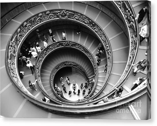 The Vatican Museum Canvas Print - Vatican Bw by Stefano Senise
