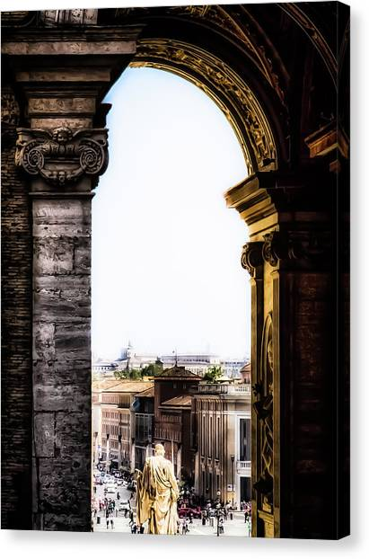 Vatican City - The Arch View Canvas Print