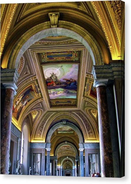 The Vatican Museum Canvas Print - Vatican Museum by Mitch Cat